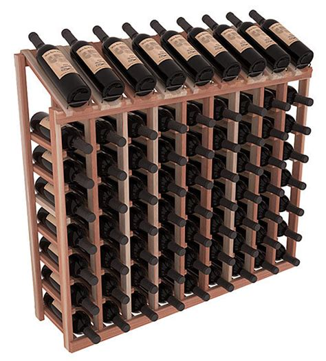 handmade wooden 72 bottle display view wine rack kit in