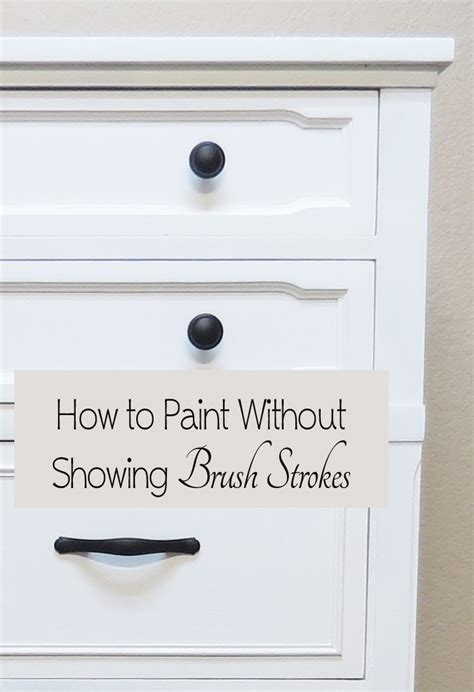 how to paint acrylic without brush strokes how to paint furniture without showing brush strokes