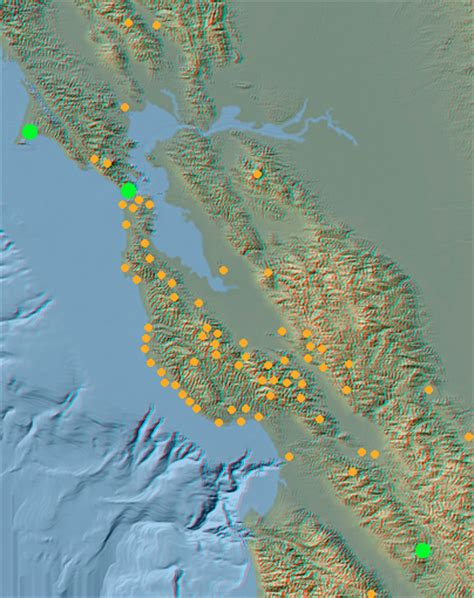 san francisco relief map geology cafe