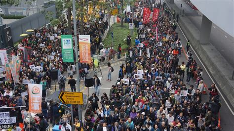 Demand Letter Hong Kong Thousands Rally To Demand Answers From Beijing