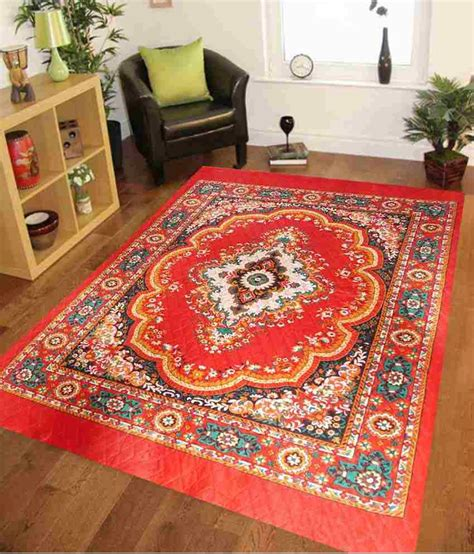 quilted rugs iws 5x7 orange designer traditional printed quilted rug buy iws 5x7 orange