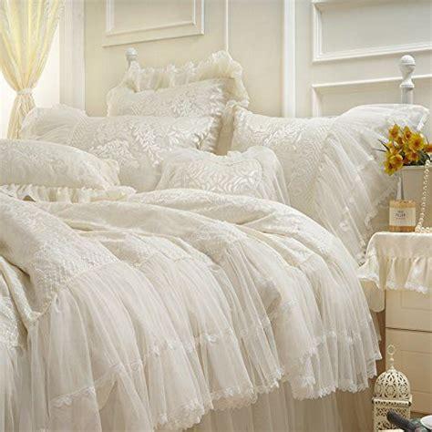 korean web site to order white satin bedspreafs fadfay home textile luxury brand satin white bedding set unique korean ruffle lace
