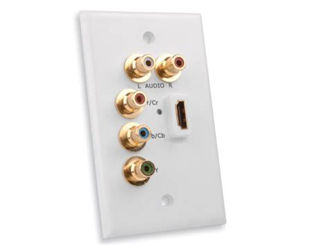 Component Cable Wall Plate - vanco international hdmi 174 wall plate with component
