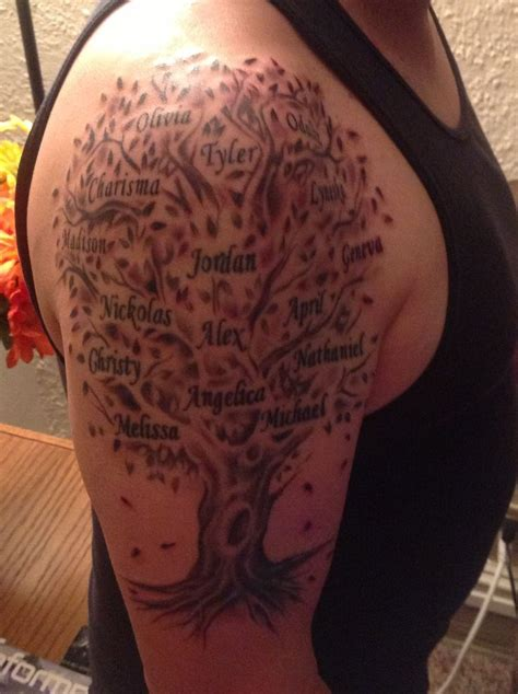 parents name tattoos designs family tree tattoos for family tree designs