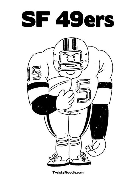 49ers Coloring Page by 49ers Coloring Pages