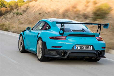 Porsche 911 Gt2 Price by 911 Gt2 Rs Miami Blue The New Porsche 911 Gt2 Rs