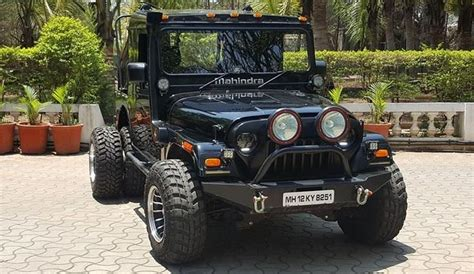 modified thar this 6 wheeled modified mahindra thar is pure menace