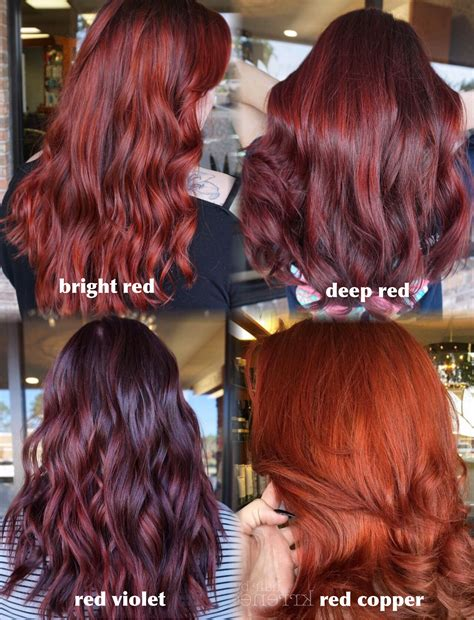 different shades of red for hair color shades of red hair so many different tones for different