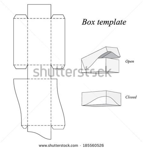 interesting box template lid vector illustration stock
