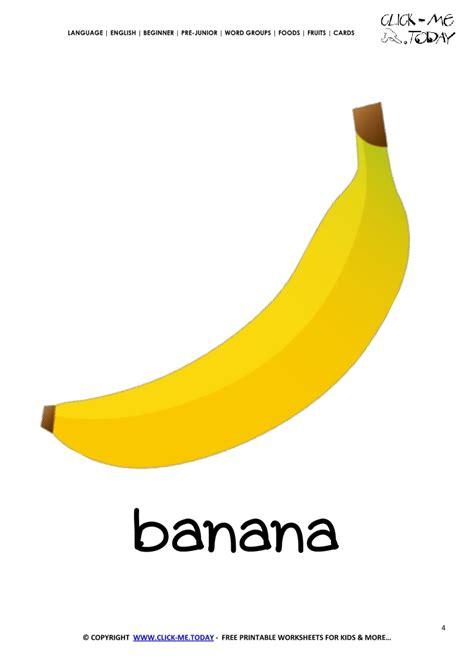printable banana images printable banana flashcard wall card of banana