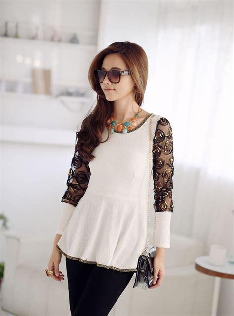 Talita Top Diamore Blouse Cantik Blouse Wanita Murah T1310 2 korean blouse shop indonesia collar blouses