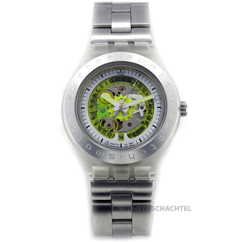 Swatch Seri Aotomatic swatch irony diaphane automatic citrime stainless steel