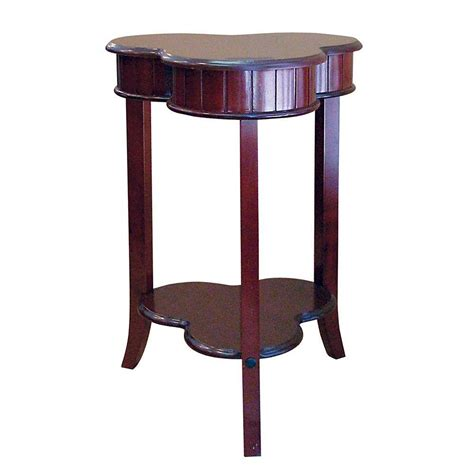 cherry end tables with storage home decorators collection shamrock cherry storage end