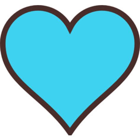 Turquoise Home Accessories Decor blue and brown heart clip art polyvore