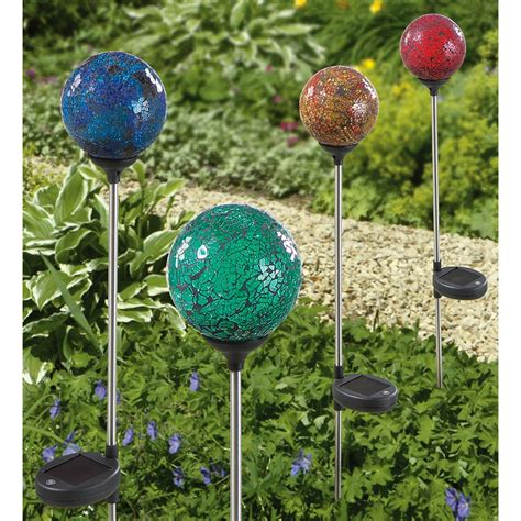 globe solar lights outdoor 3 pk westinghouse mosaic solar globe lights 378307