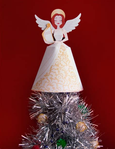 paper tree toppers printables from the up craft 3d ornaments