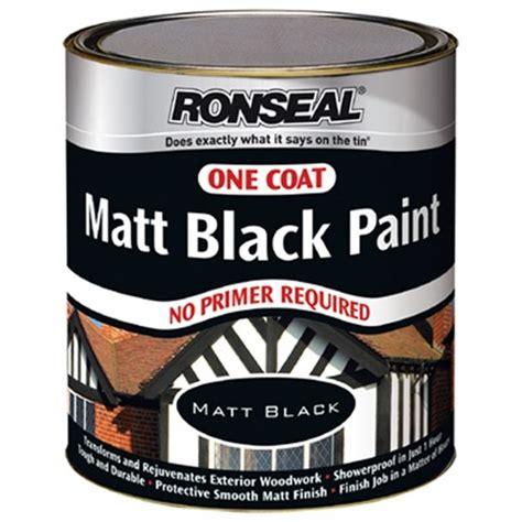 ronseal 35229 exterior one coat matt black paint 750ml ebay