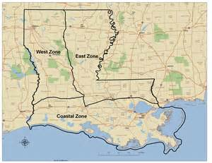 map of and louisiana border maps and descriptions of waterfowl zone options