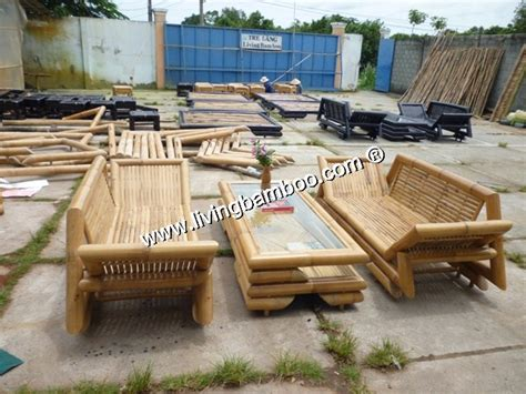 bamboo patio furniture bamboo living room lotus living set
