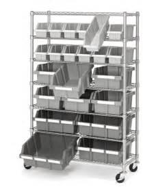 new 7 shelf 22 bin rack rolling storage shelving