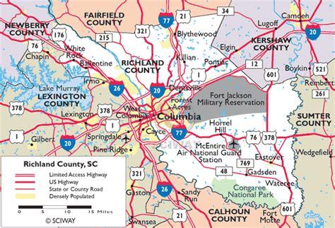 map of columbia south carolina maps of richland county south carolina