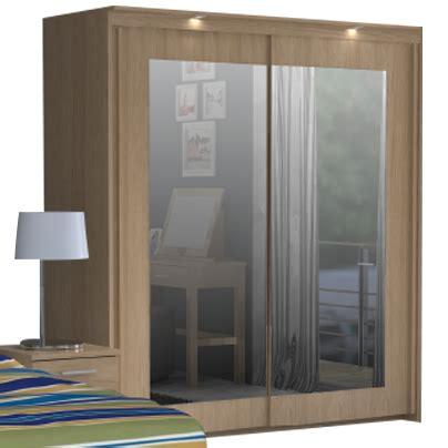 Oak Mirrored Sliding Wardrobe Doors by Sliding Wardrobe Mirror Doors 2