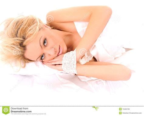 girls laying in bed laying in bed woman royalty free stock images image