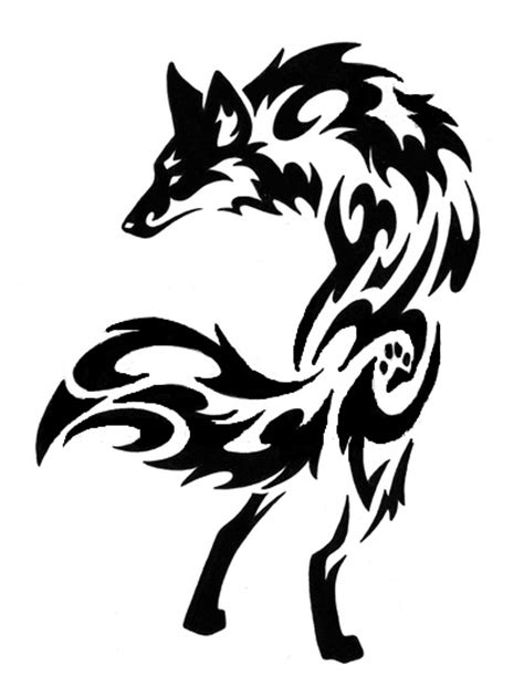 9 stunning tribal fox tattoos only tribal