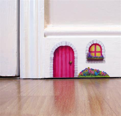 door wall stickers pink cottage door wall sticker decal including window