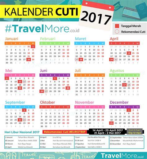 Kalender 2018 Tiket Kalender Cuti 2017 Travelmore