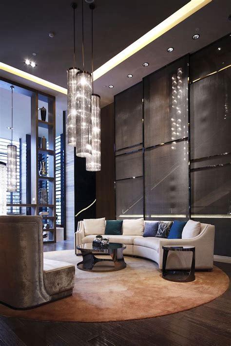 canapé en rond salon moderne rochebobois