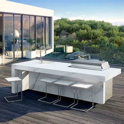 outdoor island kitchen fesfoc akan force modern charcoal bbq high quality