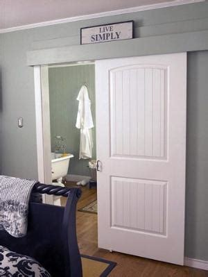 pocket door alternatives wall mount door hardware like a barn door but used with regular doors click to view other