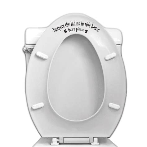respect the toilet seat vinyl decal for bathroom