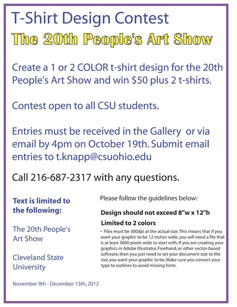 contest template s show t shirt design contest csu photo