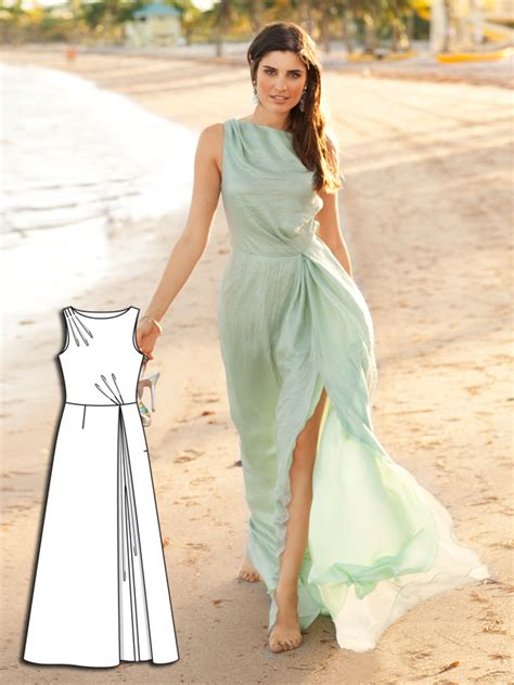 pattern drafting wedding gown beachside beauty 6 new dress sewing patterns sewing