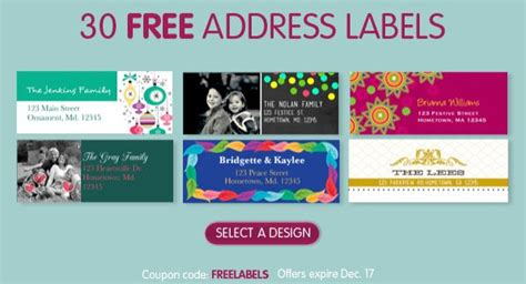 30 Free Return Address Labels Shipping Free Return Address Label