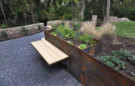 corten bench 9 ideas for including weathering steel planters in your