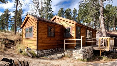 Custer State Park Cing Cabins by Housekeeping Cabin 4 Doubles H4dc 187 Cabins