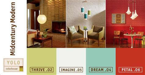modern paint colors mad for mid century yolo mid century modern color palette