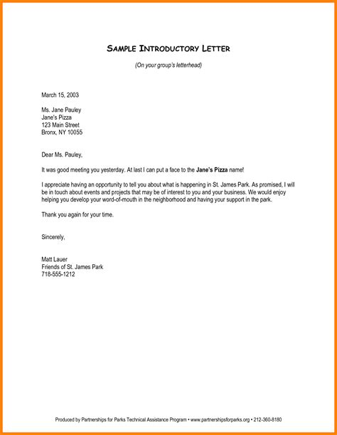 Healthcare Business Introduction Letter letter of introduction how to write a new business letter