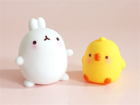 cute figurines molang figurines and stickers super cute kawaii