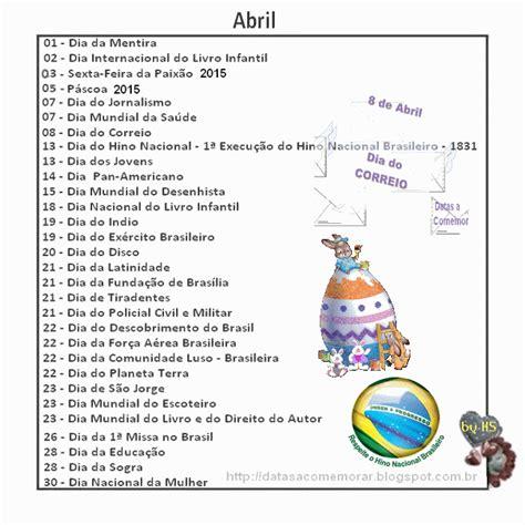 Calendario 7 De Abril Pedagogia S 233 Culo Xxi Datas Comemorativas De Abril