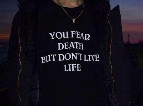 don t live for your obituary books sweater you fear but don t live black black