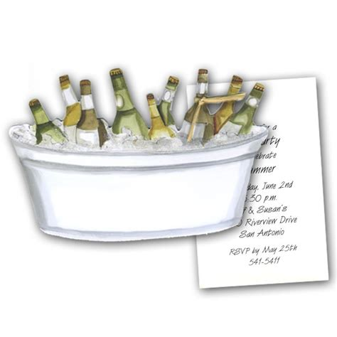 bathtub beer tub of beer with raffia party invitations paperstyle