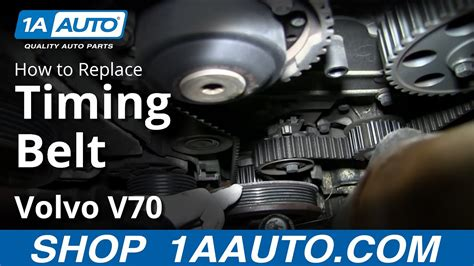 install replace engine timing belt volvo   youtube
