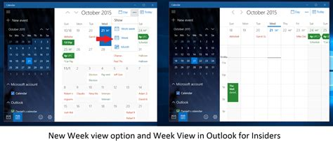 Calendar Desk General Windows 10 Pc And Mobile Update Gives Week Calendar And