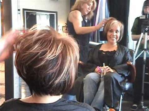 how to cut angle inverted bob with razor part 2 of 2 layered angled modern bob hair cut featuring