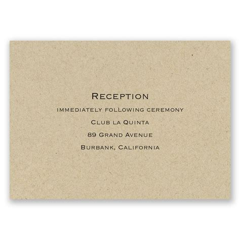 Wedding Card Reception by Kraft Reception Card Invitations By