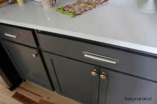 How To Paint Kitchen Cabinet Hardware by Kitchen Cabinet Colors Before Amp After The Inspired Room